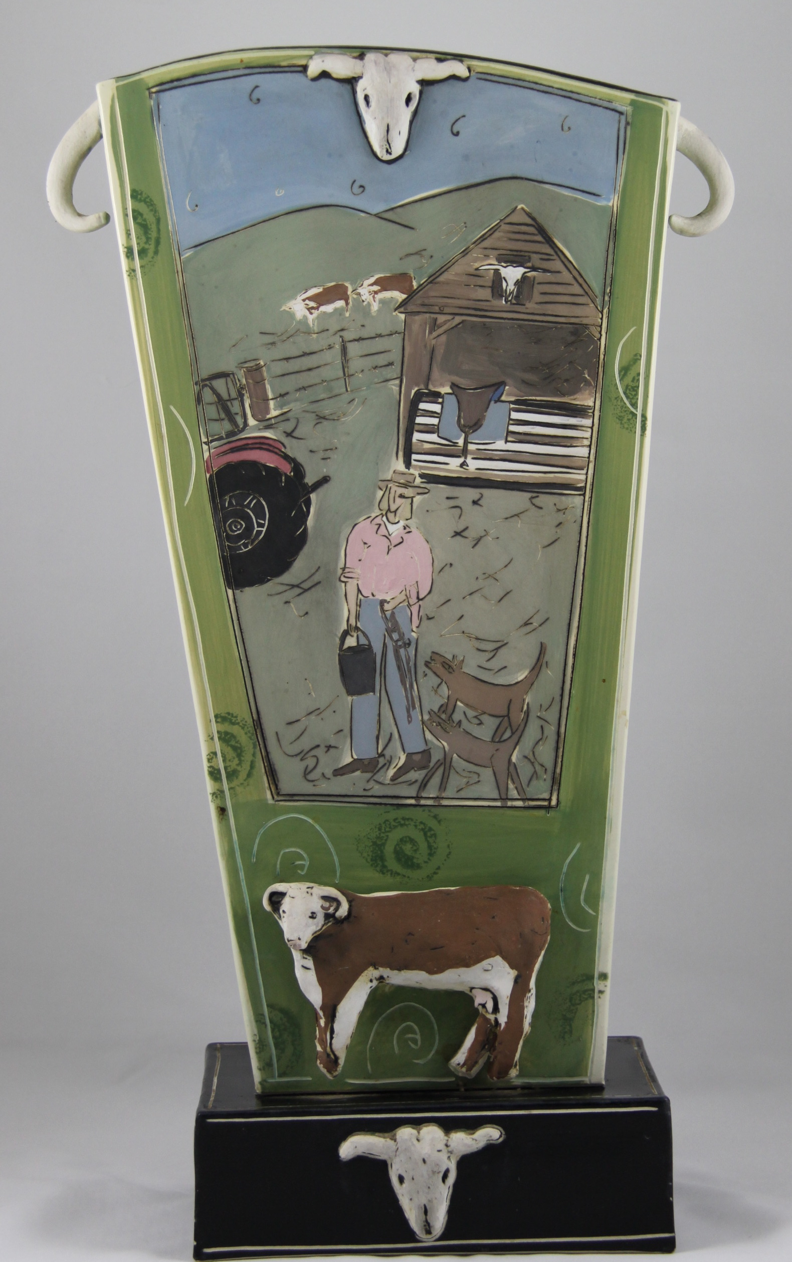 Mary Lou Hogarth – I WISH I WAS A COWGIRL VASE