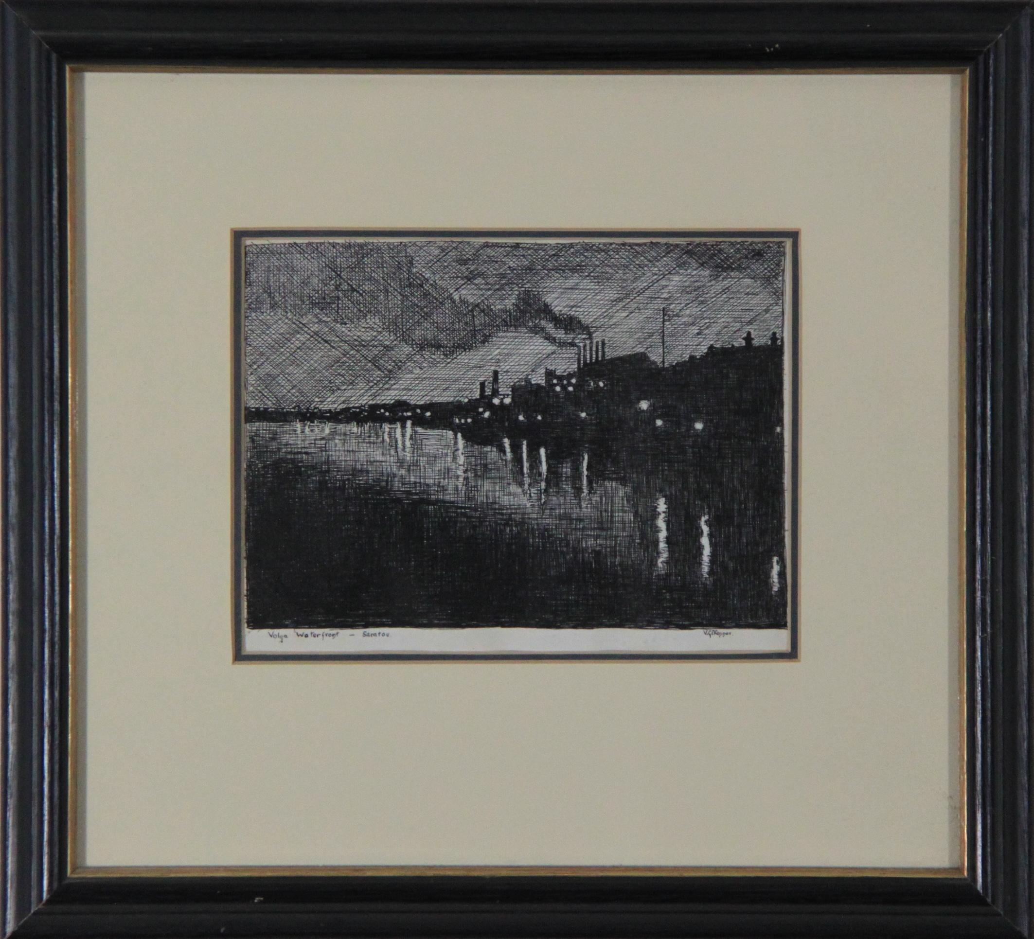 "VICTOR "" VIC "" GEORGE O'CONNOR – VOLGA WATER FRONT SARATOV c 1934"