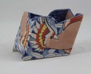 Barbra Swarbrick Vase with Major Mitchell Cockatoo design