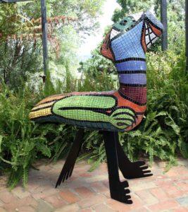 "Deborah D Halpern ""Griffin"" 2002 Mosaic Sculpture"