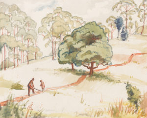 Eveline Winfred Syme Landscape with figures