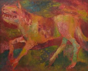 "John Richard Howley ""Beast"" or ""Fantasy dog"" c-1955"