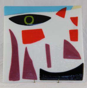 """Deborah D Halpern """"face with green eye"""""""